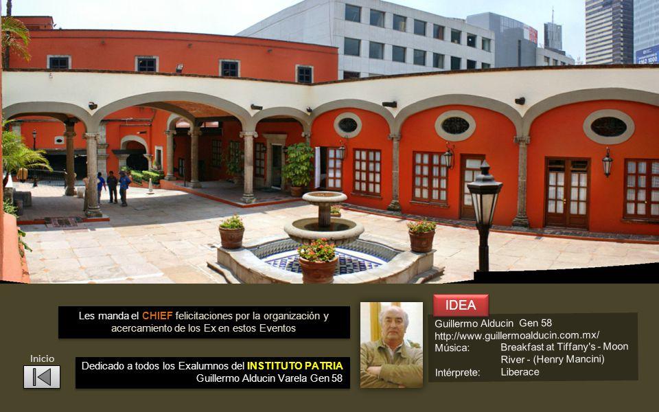 IDEA Les manda el CHIEF felicitaciones por la organización y acercamiento de los Ex en estos Eventos.