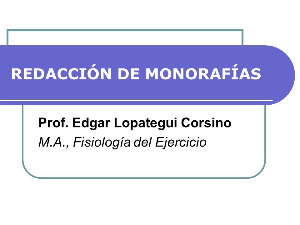 REDACCIÓN DE MONORAFÍAS