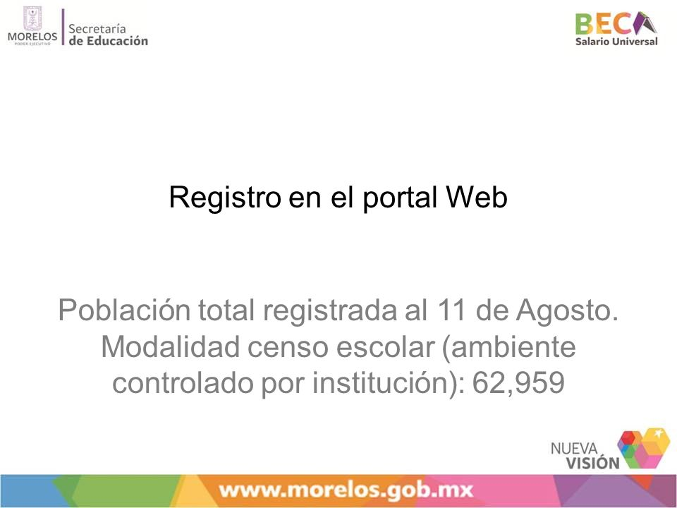 Registro en el portal Web