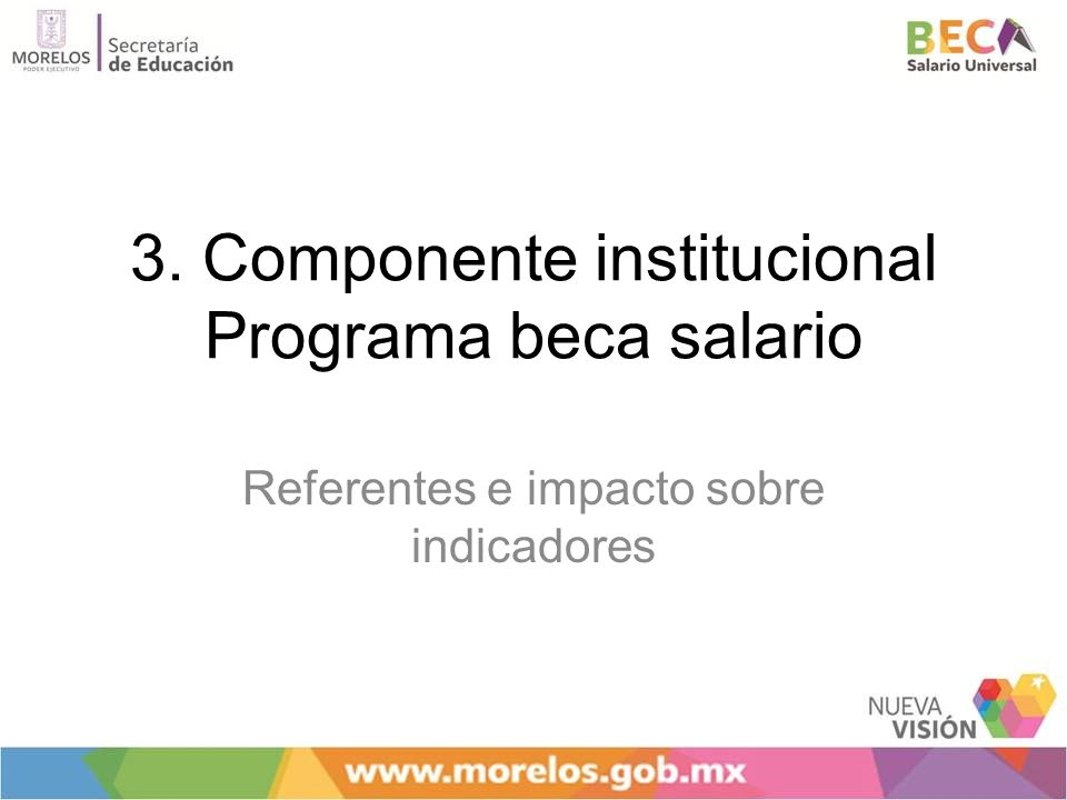 3. Componente institucional Programa beca salario