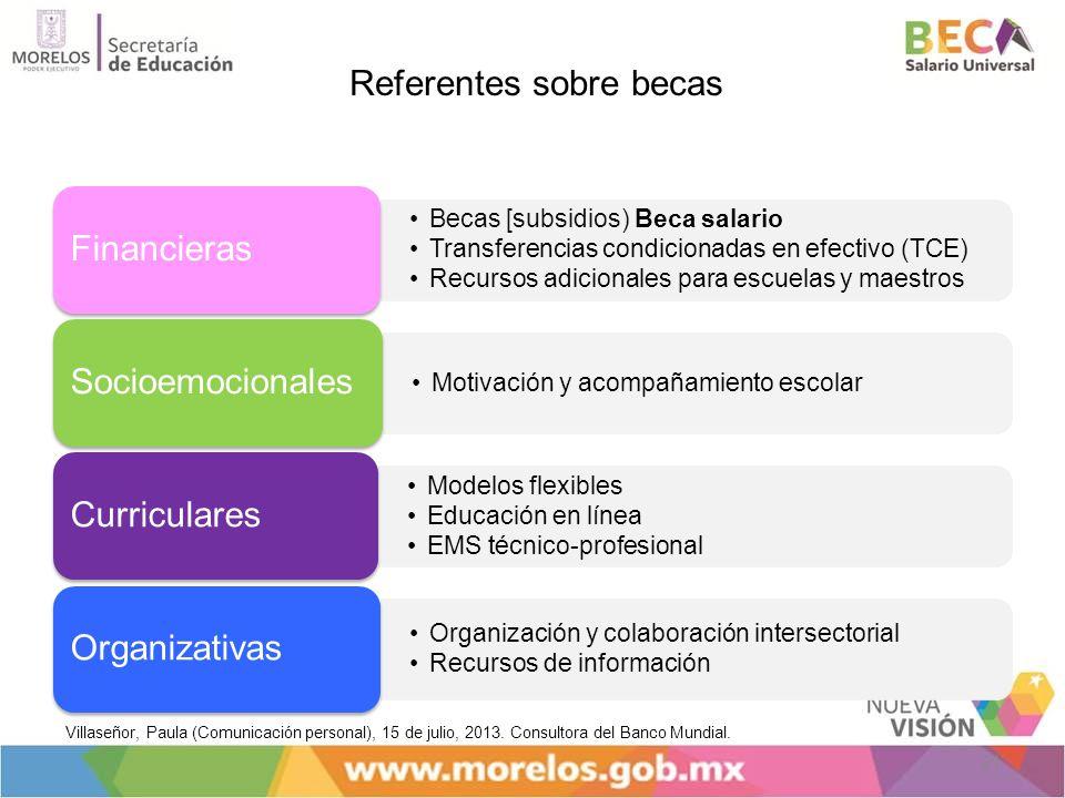 Financieras Socioemocionales Curriculares Organizativas