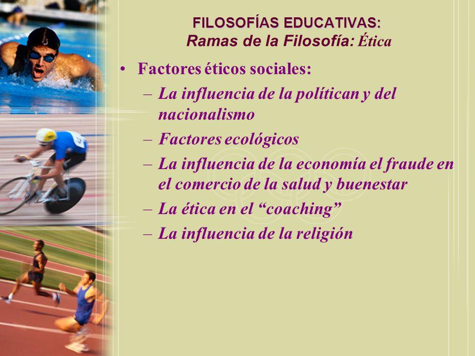 FILOSOFÍAS EDUCATIVAS: Ramas de la Filosofía: Ética