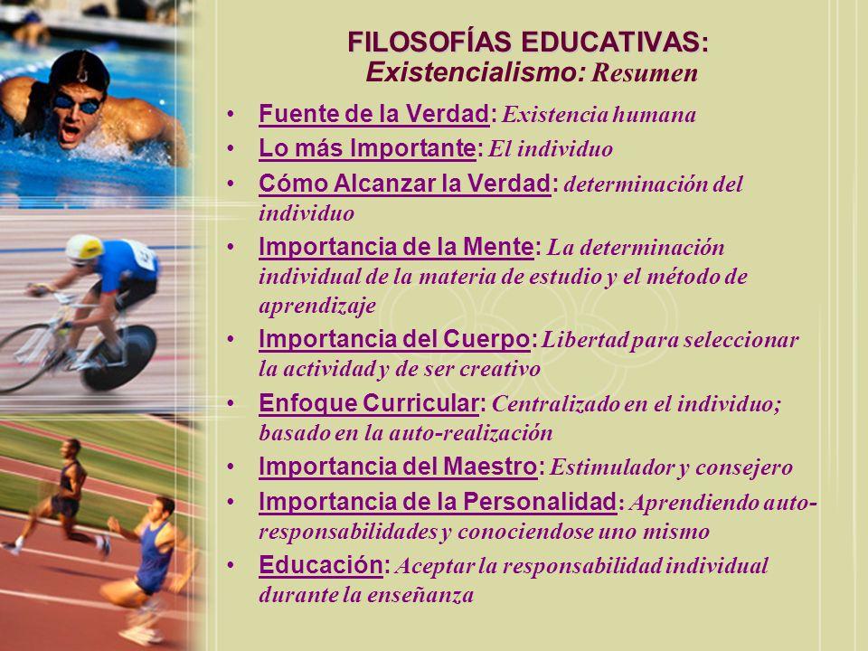FILOSOFÍAS EDUCATIVAS: Existencialismo: Resumen