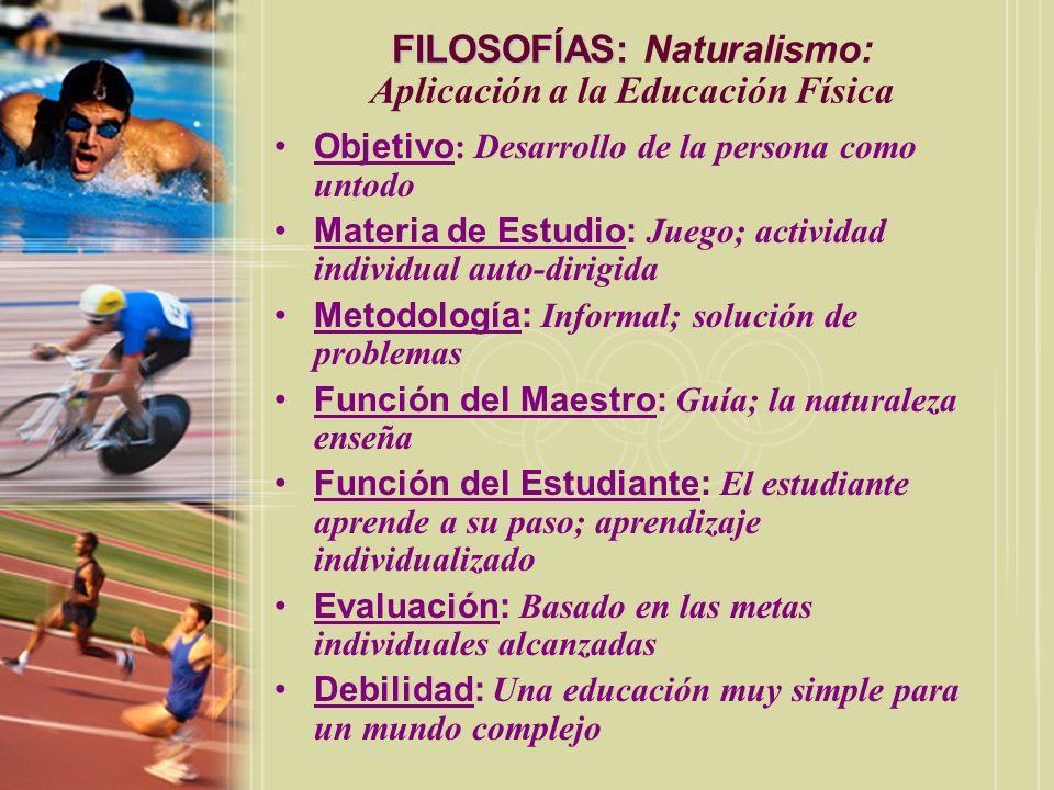 FILOSOFÍAS: Naturalismo: Aplicación a la Educación Física