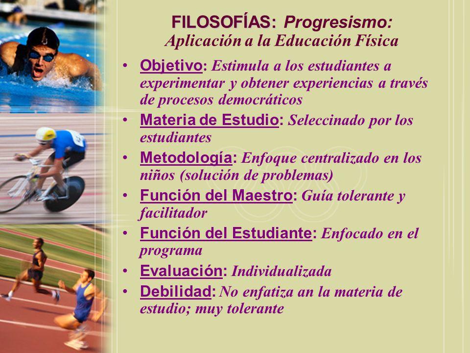 FILOSOFÍAS: Progresismo: Aplicación a la Educación Física