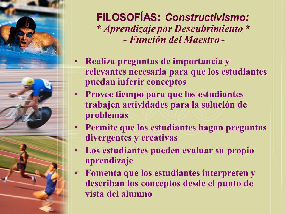 FILOSOFÍAS: Constructivismo:. Aprendizaje por Descubrimiento