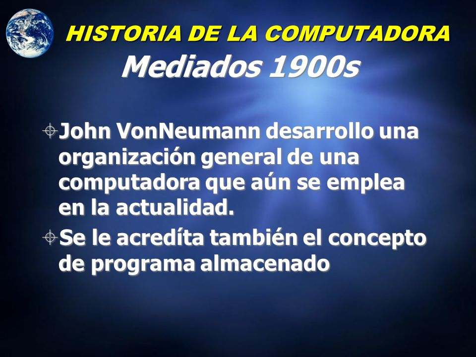 HISTORIA DE LA COMPUTADORA