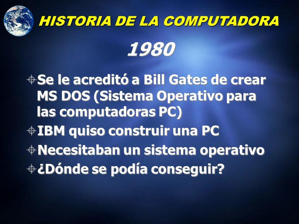 1980 HISTORIA DE LA COMPUTADORA