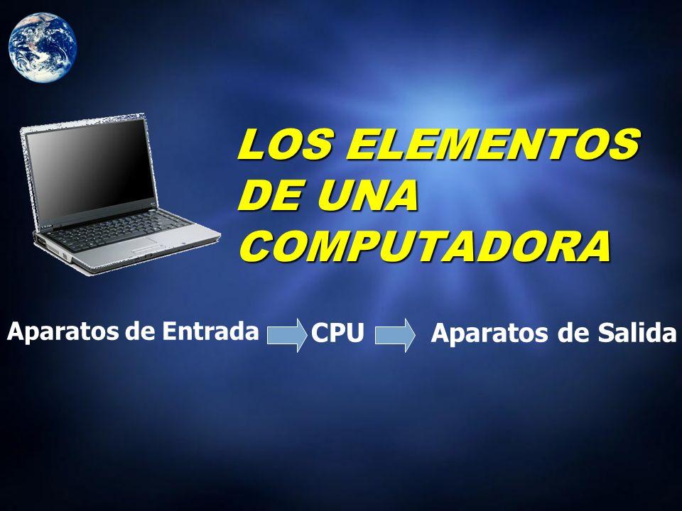 LOS ELEMENTOS DE UNA COMPUTADORA