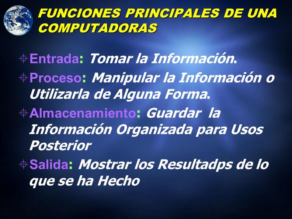 FUNCIONES PRINCIPALES DE UNA COMPUTADORAS