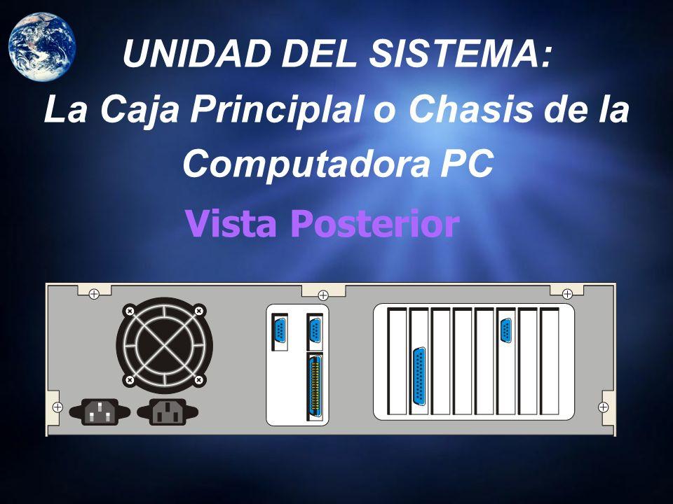 UNIDAD DEL SISTEMA: La Caja Principlal o Chasis de la Computadora PC
