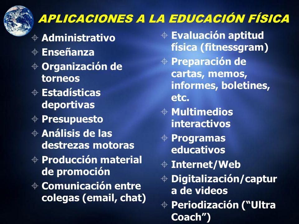 APLICACIONES A LA EDUCACIÓN FÍSICA