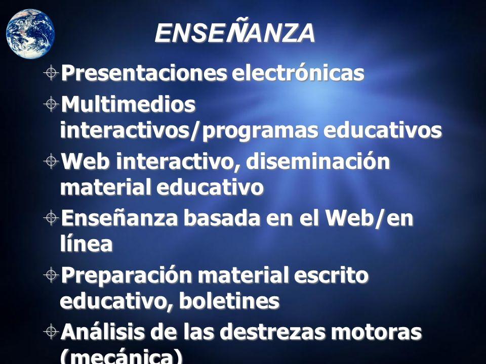 ENSEÑANZA Presentaciones electrónicas