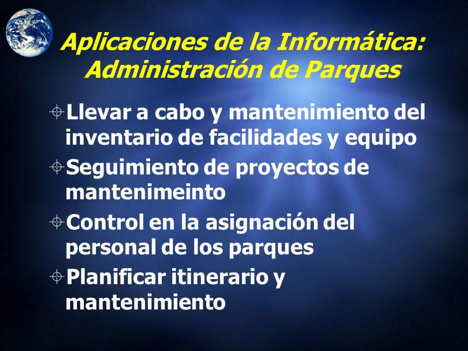 Aplicaciones de la Informática: Administración de Parques