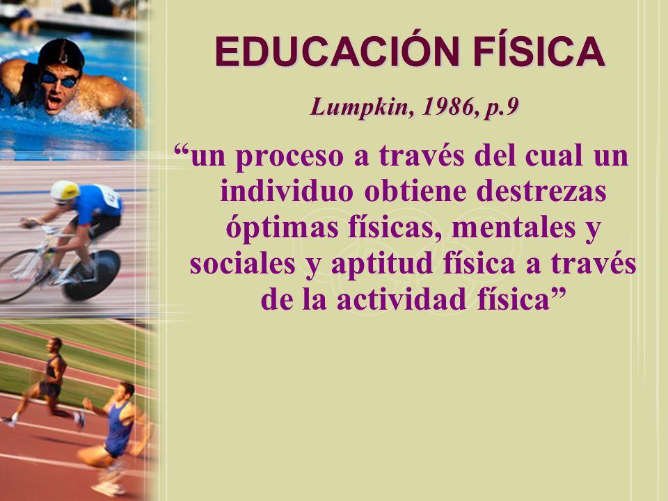 EDUCACIÓN FÍSICA Lumpkin, 1986, p.9