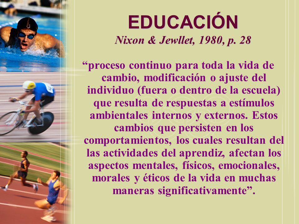 EDUCACIÓN Nixon & Jewllet, 1980, p. 28