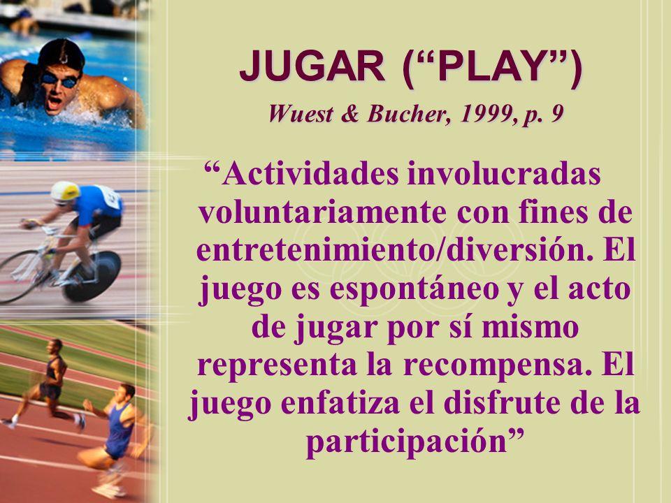 JUGAR ( PLAY ) Wuest & Bucher, 1999, p. 9
