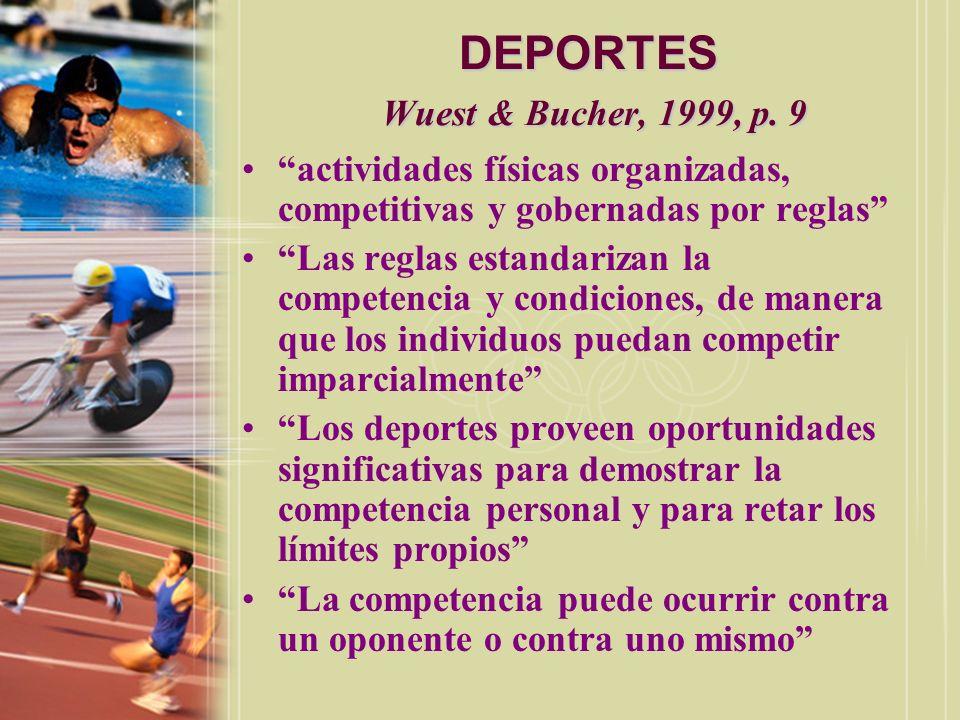 DEPORTES Wuest & Bucher, 1999, p. 9