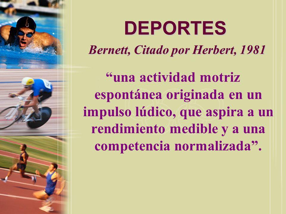DEPORTES Bernett, Citado por Herbert, 1981