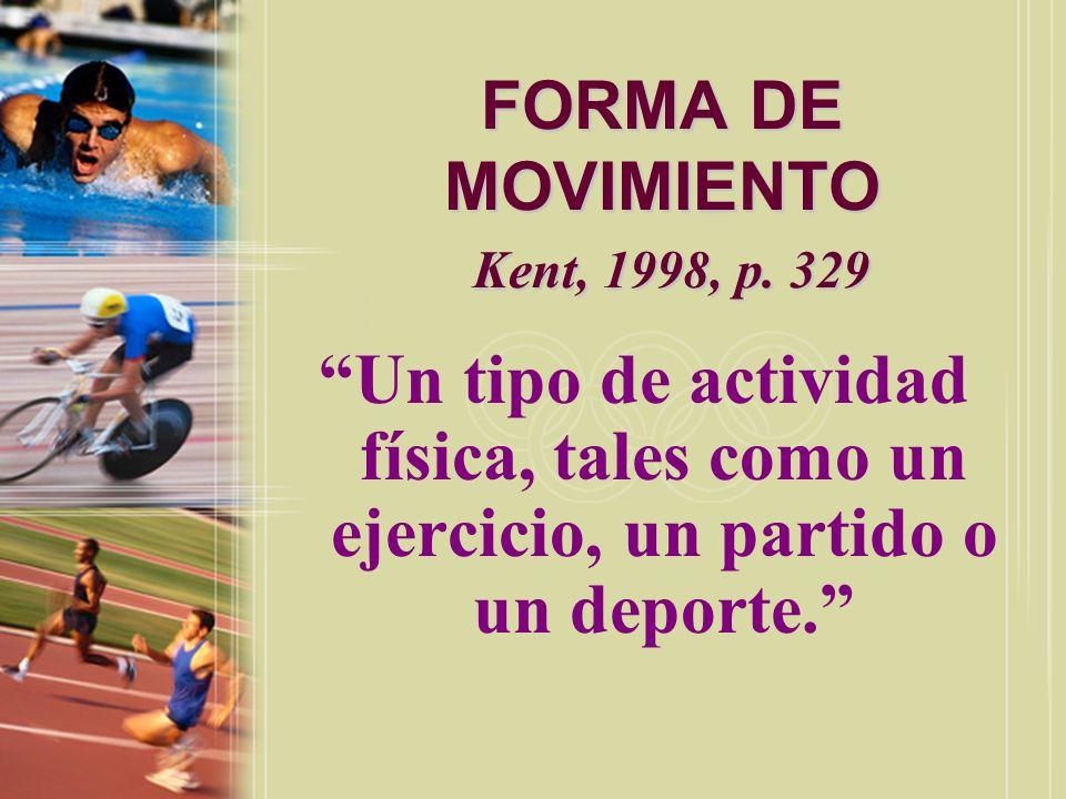 FORMA DE MOVIMIENTO Kent, 1998, p. 329