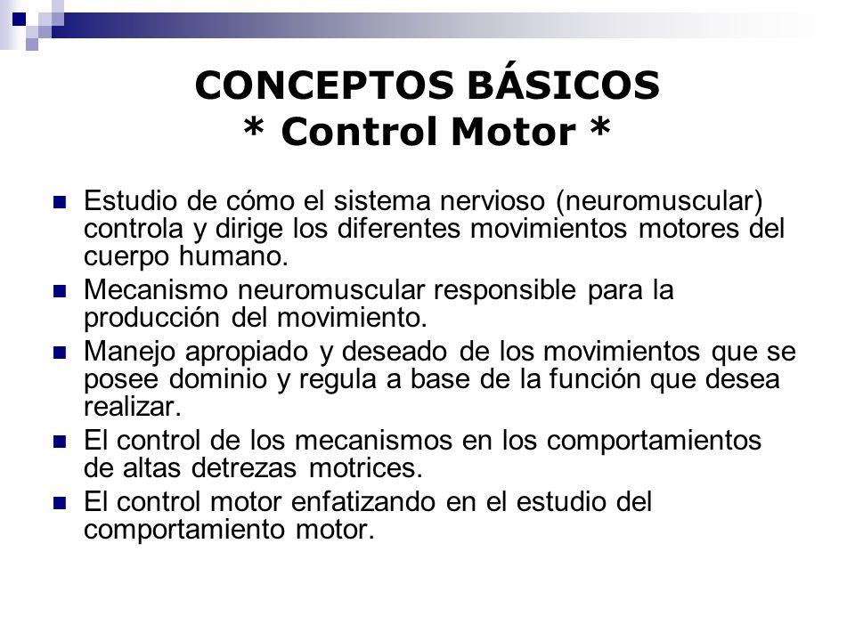 CONCEPTOS BÁSICOS * Control Motor *