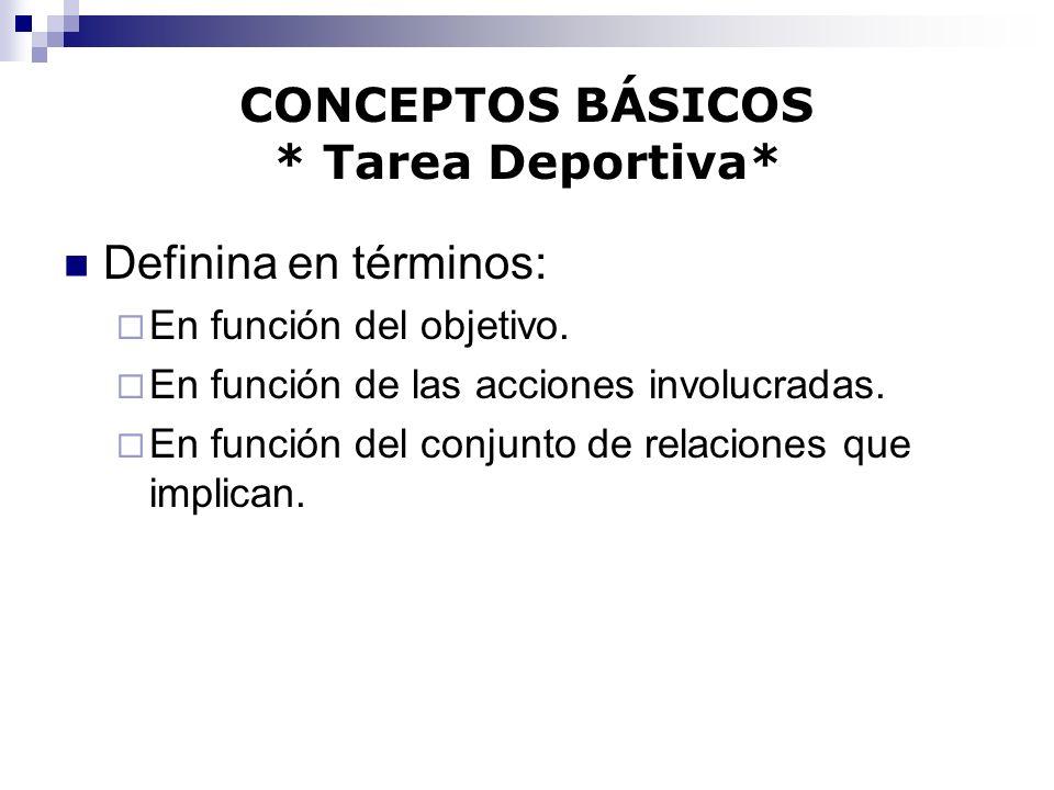 CONCEPTOS BÁSICOS * Tarea Deportiva*