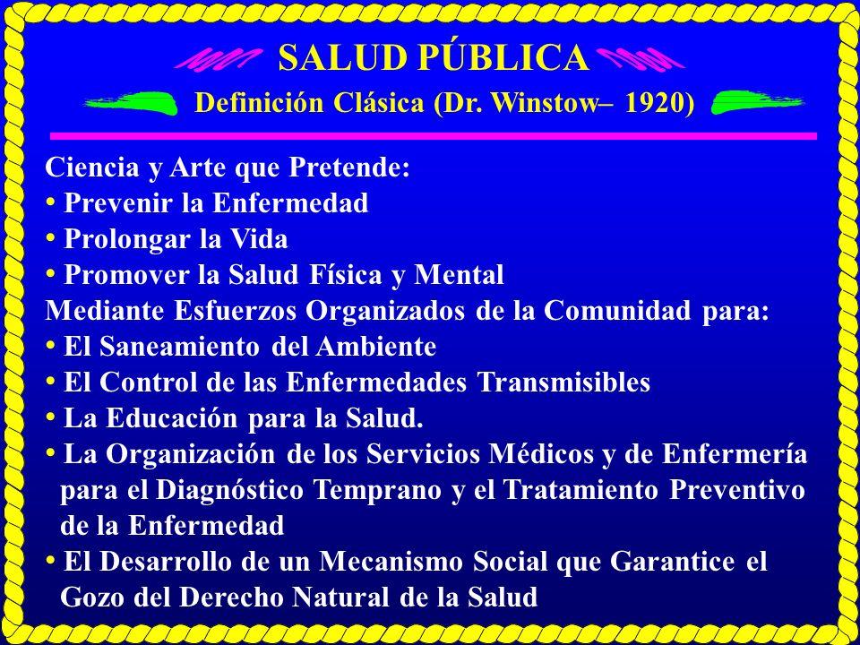 Definición Clásica (Dr. Winstow– 1920)
