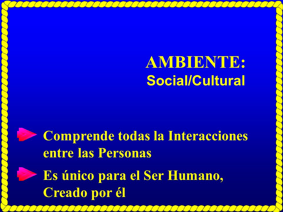 AMBIENTE: Social/Cultural