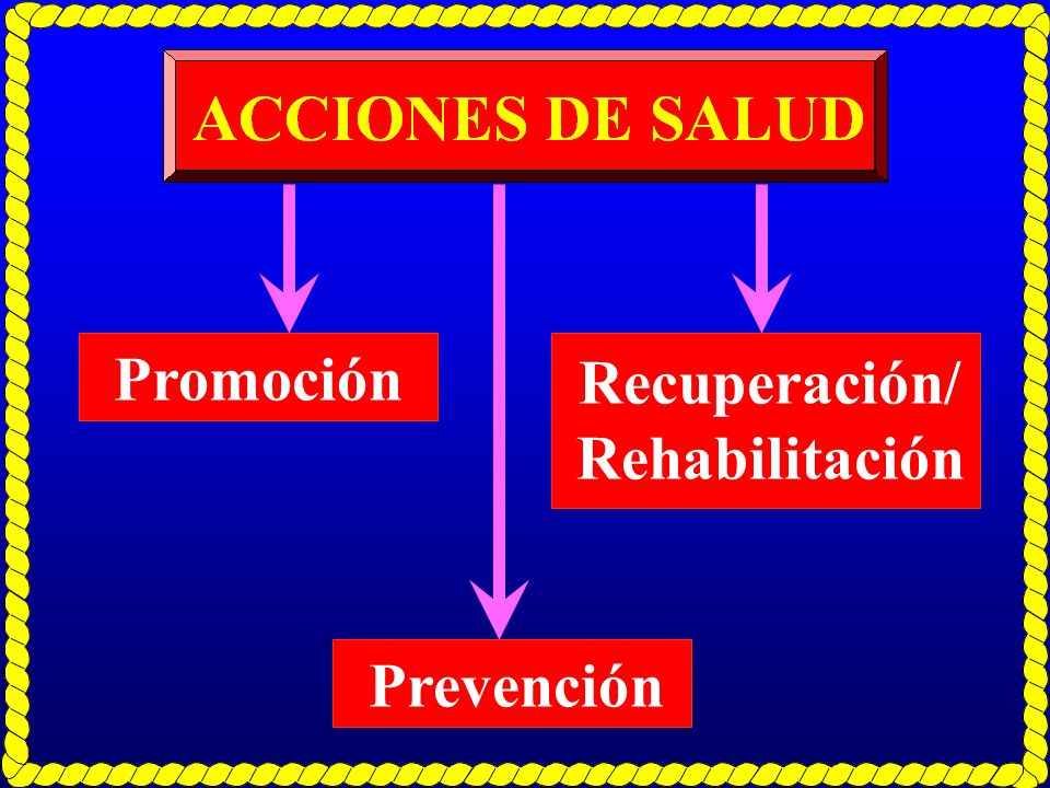 Promoción Recuperación/ Rehabilitación Prevención