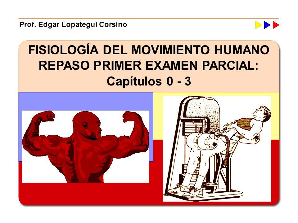 FISIOLOGÍA DEL MOVIMIENTO HUMANO REPASO PRIMER EXAMEN PARCIAL: