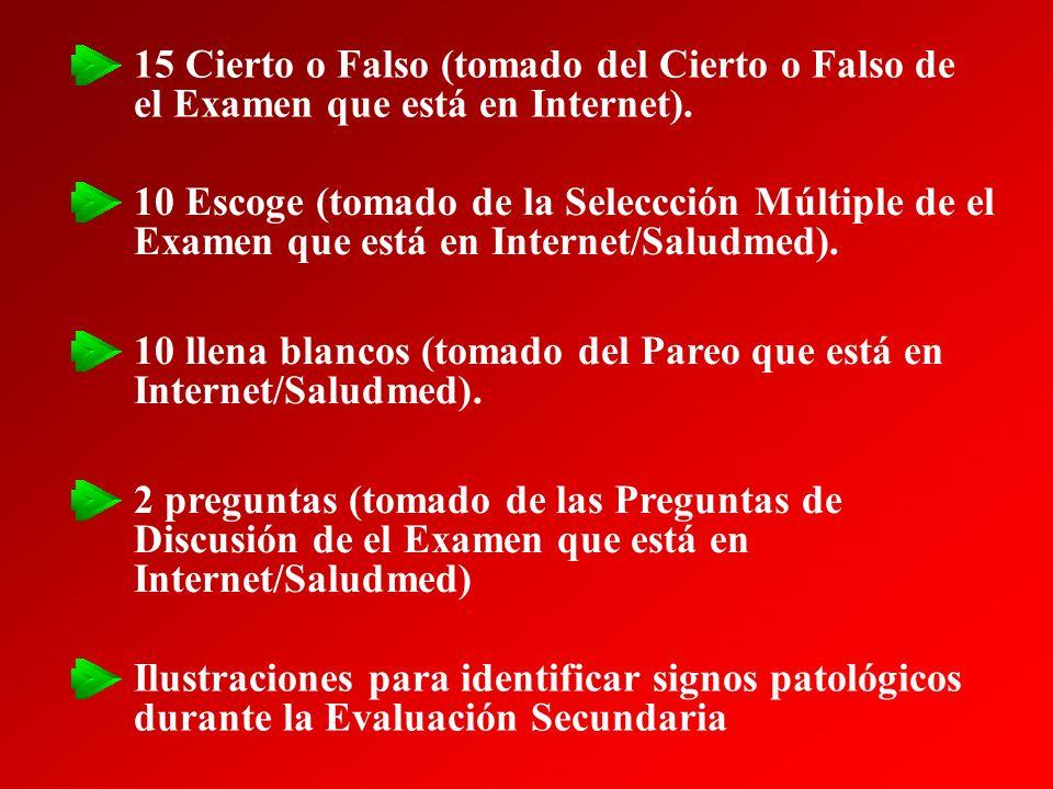 15 Cierto o Falso (tomado del Cierto o Falso de el Examen que está en Internet).