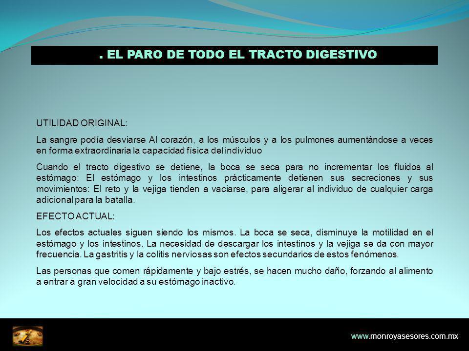 5. EL PARO DE TODO EL TRACTO DIGESTIVO