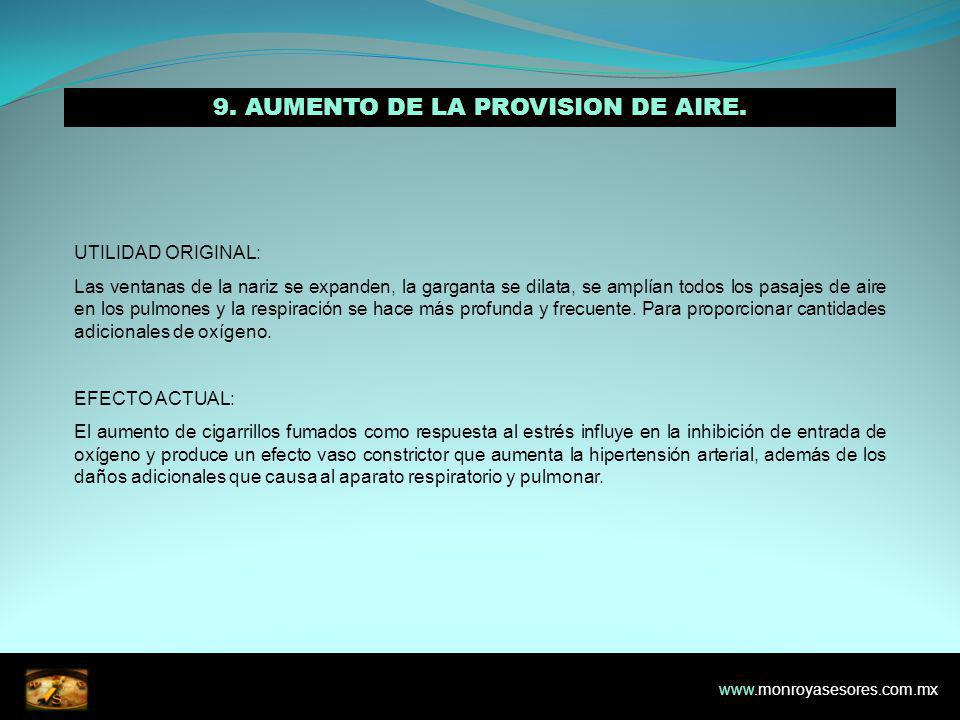 9. AUMENTO DE LA PROVISION DE AIRE.