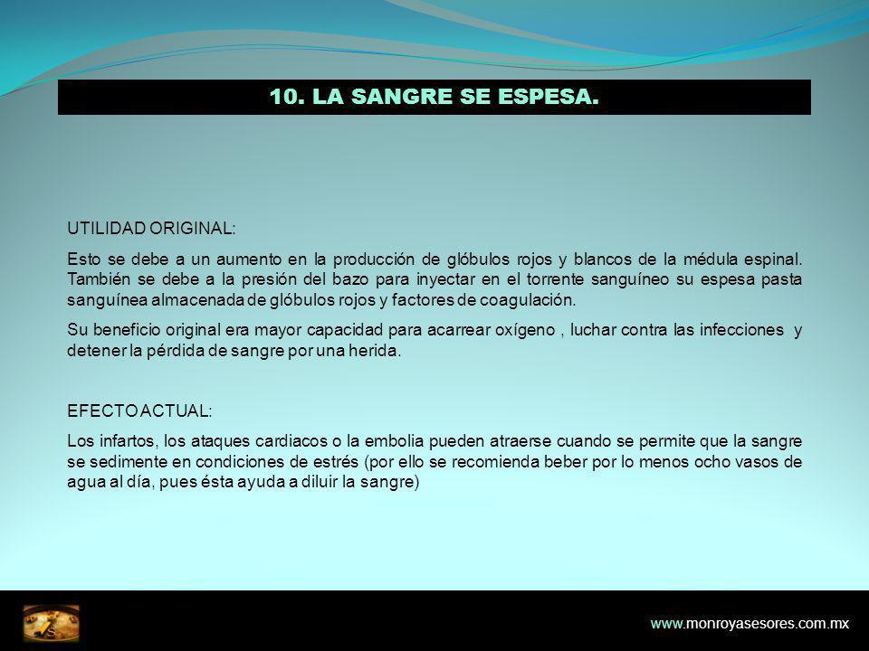 10. LA SANGRE SE ESPESA. UTILIDAD ORIGINAL: