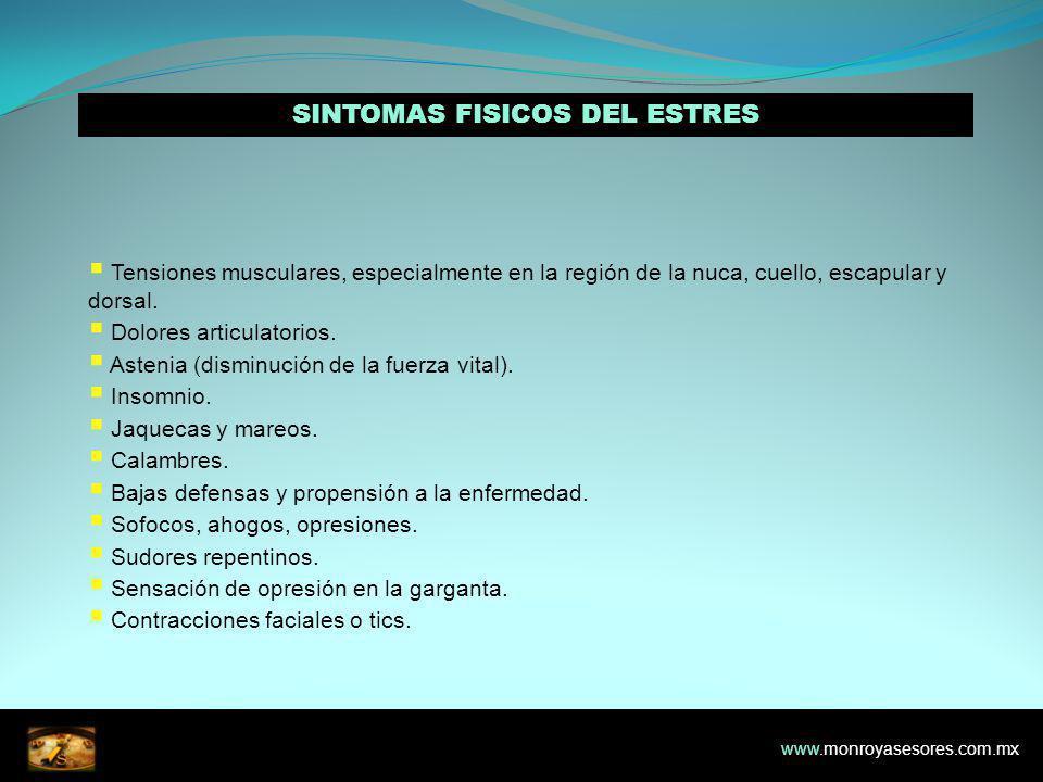 SINTOMAS FISICOS DEL ESTRES
