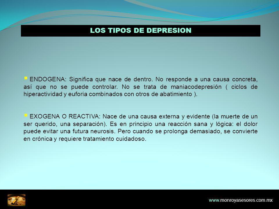 LOS TIPOS DE DEPRESION