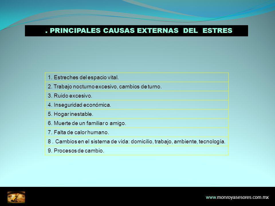 2. PRINCIPALES CAUSAS EXTERNAS DEL ESTRES