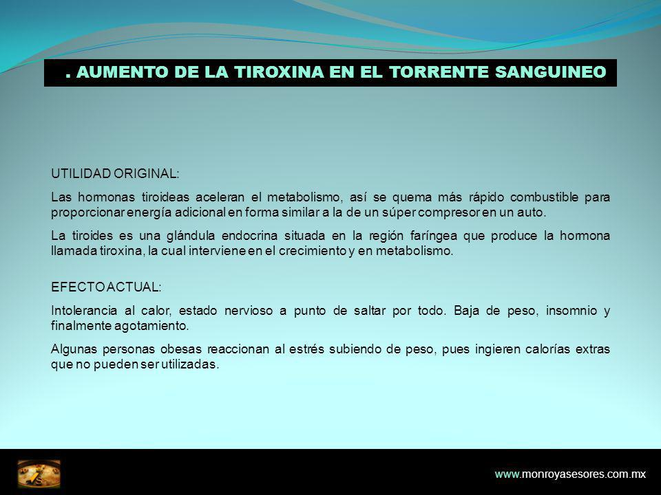 2. AUMENTO DE LA TIROXINA EN EL TORRENTE SANGUINEO