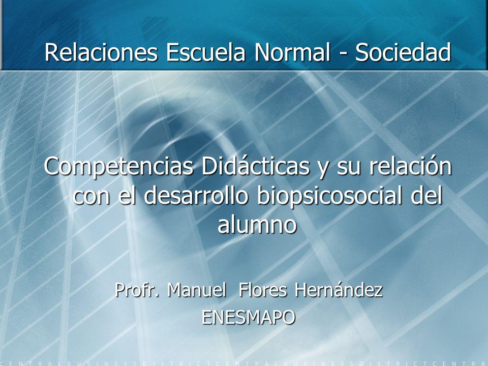 Relaciones Escuela Normal - Sociedad