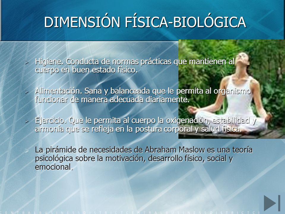 DIMENSIÓN FÍSICA-BIOLÓGICA