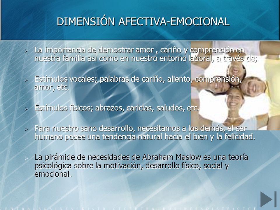 DIMENSIÓN AFECTIVA-EMOCIONAL