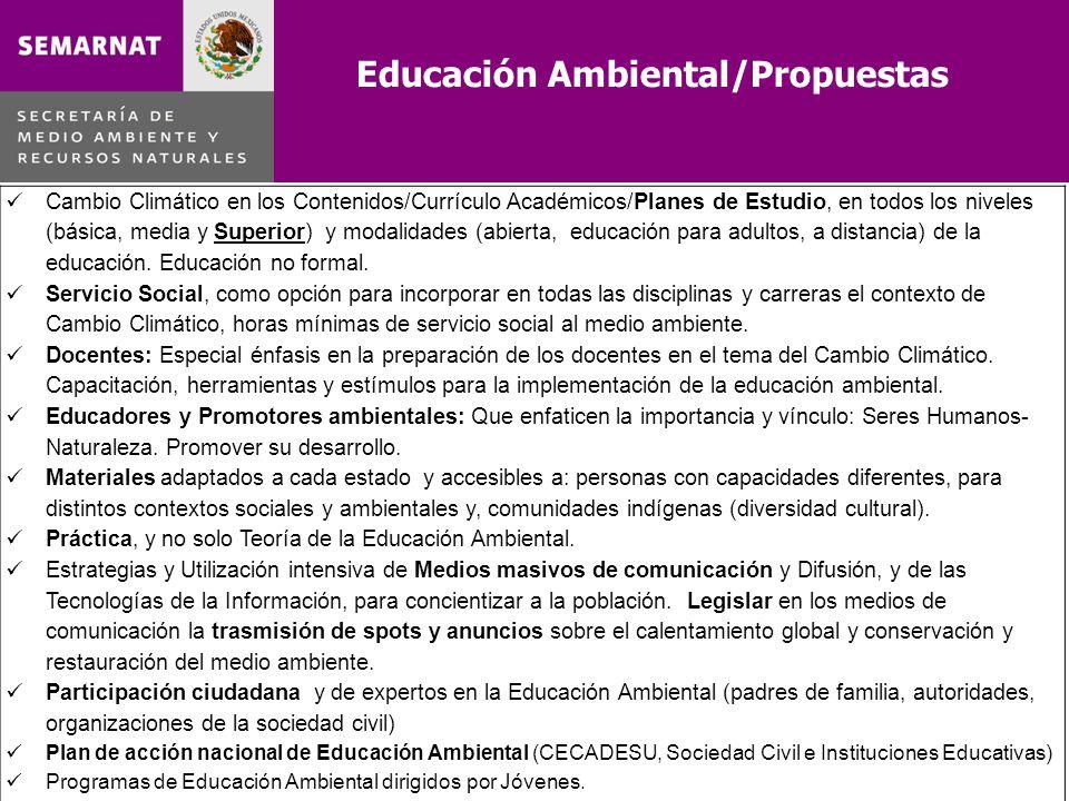 Educación Ambiental/Propuestas