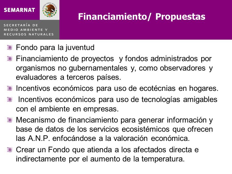 Financiamiento/ Propuestas