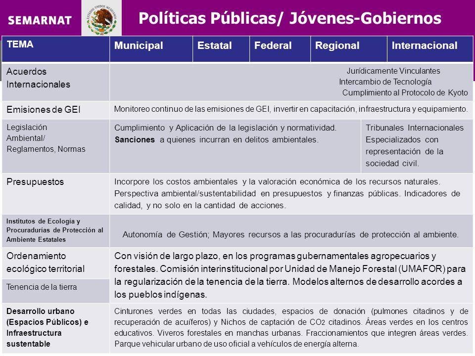 Políticas Públicas/ Jóvenes-Gobiernos