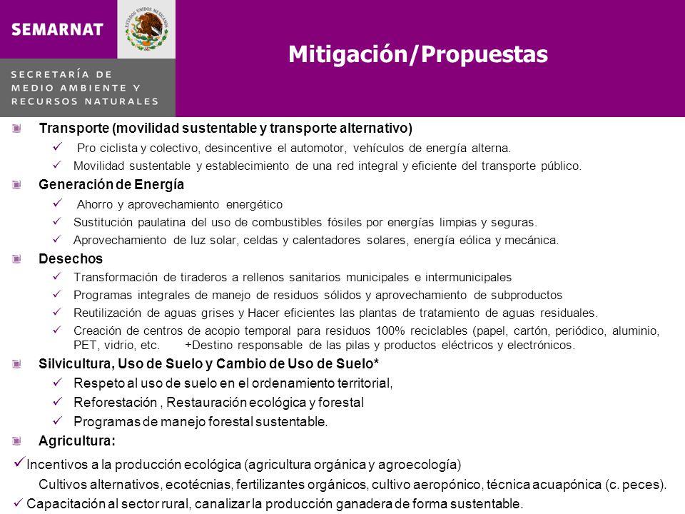 Mitigación/Propuestas