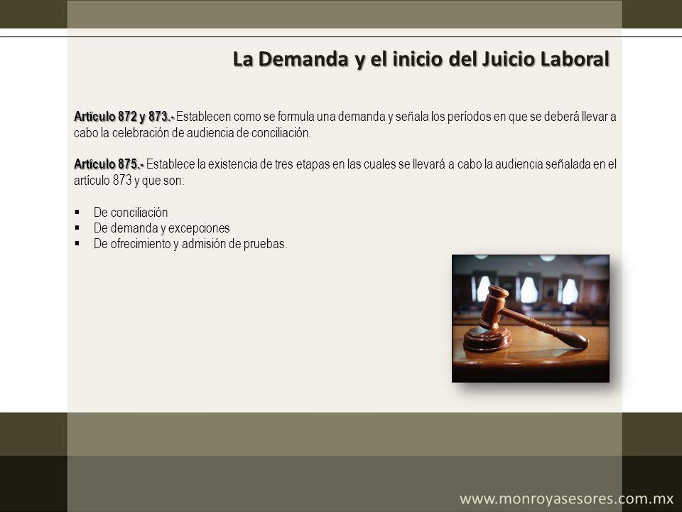 La Demanda y el inicio del Juicio Laboral