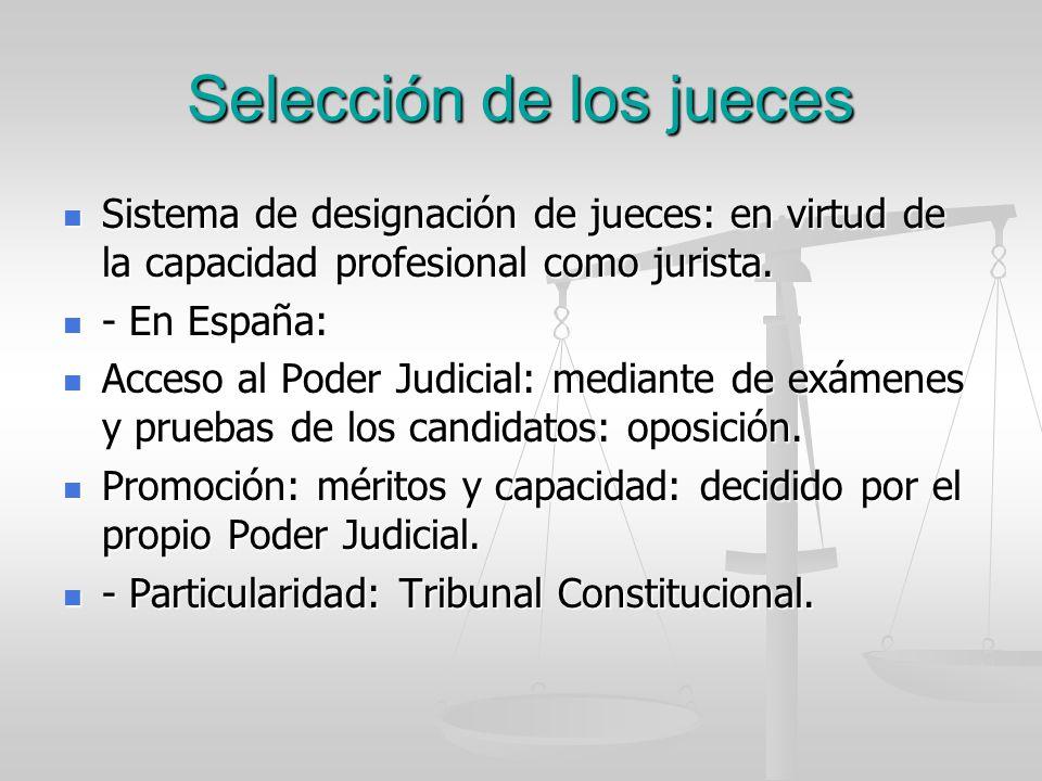 Selección de los jueces