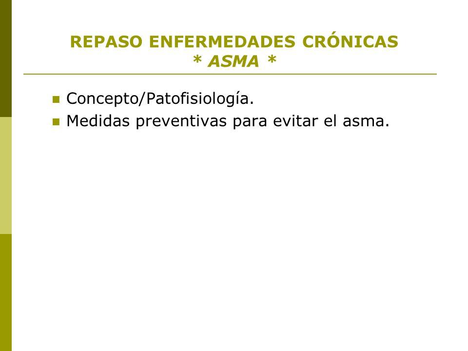 REPASO ENFERMEDADES CRÓNICAS * ASMA *