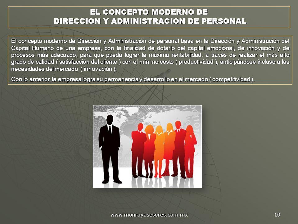DIRECCION Y ADMINISTRACION DE PERSONAL
