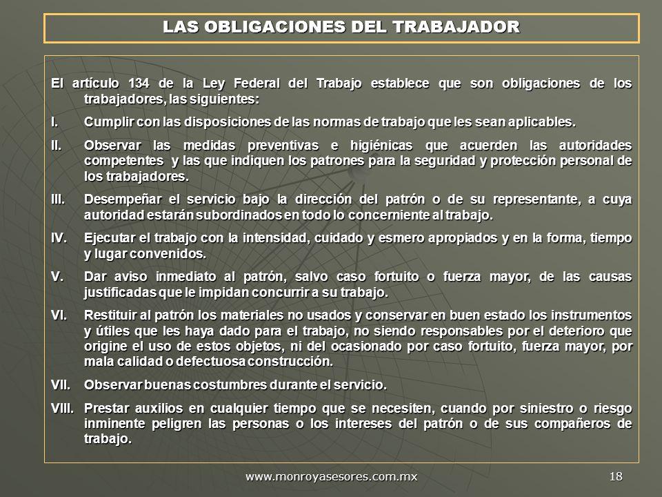 LAS OBLIGACIONES DEL TRABAJADOR